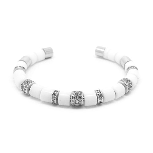 White Beaded Bangle