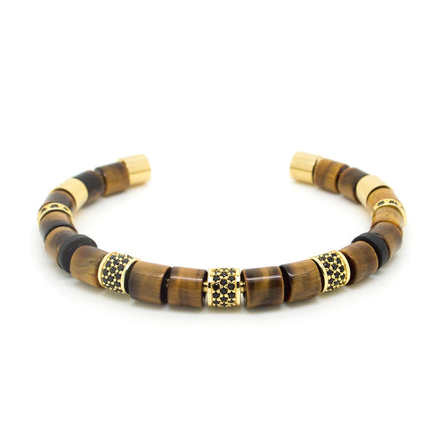 Tiger Beaded bangle
