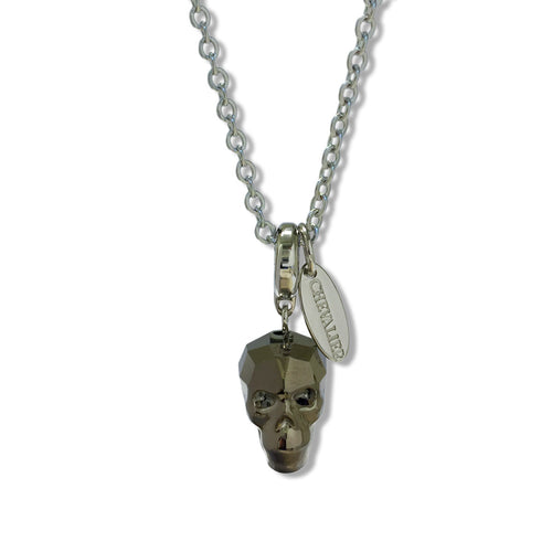 Rhodium Light Gold Skull