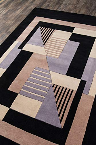 Momeni Rugs NEWWANW 06BLK2680 Collection Contemporary
