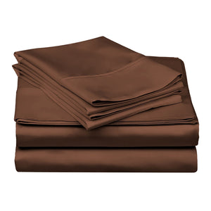 1200 TC-100% Egyptian cotton bed sheet set- Chocolate