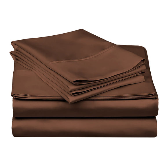 1200 TC-100% Egyptian cotton bed sheet set- Chocolate - Bedding Nest