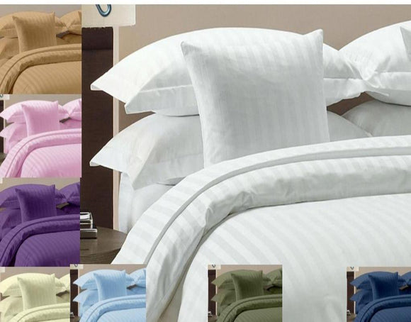 1000 Thread Count-100% cotton stripe bed sheet set