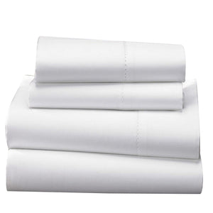 1000 TC-100% Egyptian cotton bed sheet set white - Bedding Nest