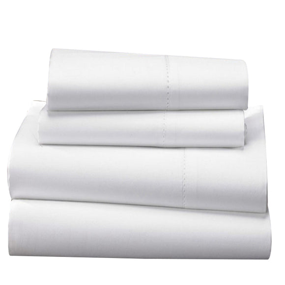 1000 TC-100% Egyptian cotton bed sheet set white