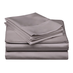1200 TC-100% Egyptian cotton bed sheet set-Grey
