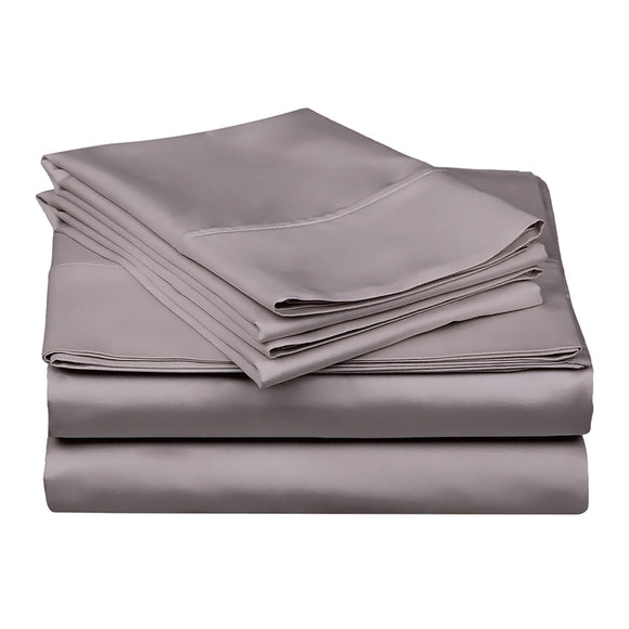 1200 TC-100% Egyptian cotton bed sheet set-Grey - Bedding Nest