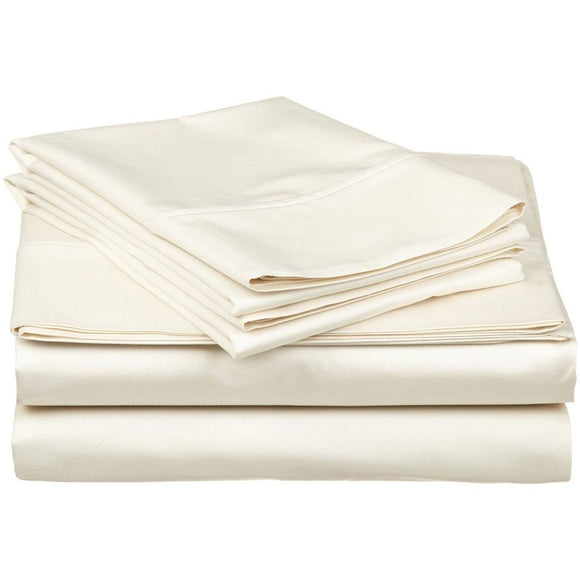 1200 TC-100% Egyptian cotton bed sheet set-Ivory
