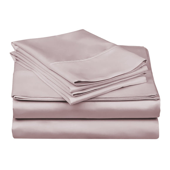 1200 TC-100% Egyptian cotton bed sheet set- Lilac - Bedding Nest