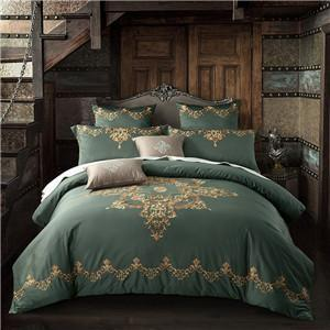 1000 TC-Floral Embroidered Egyptian Cotton Bed sheet Pillowcases Duvet Cover Set - Bedding Nest
