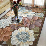 Wool Large size carpets for parlor living room bedroom Classical Embroidery art rugs decoration floor rug Floral carpet - Bedding Nest