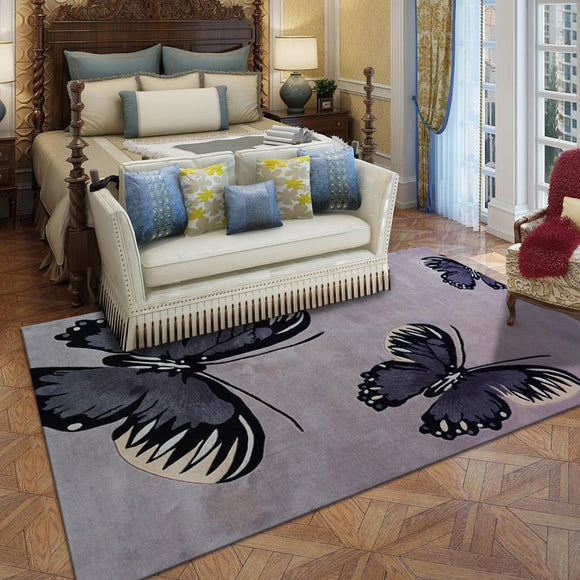 Butterfly 100% Wool Large size carpets - Bedding Nest