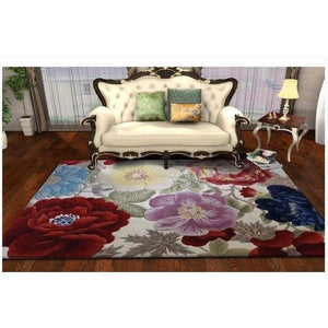 Europe 100% Wool carpet with flowers for Living Room Bedroom Hallway  Corridor large Mat Rugs Decoration Floor rugs Custom made - Bedding Nest