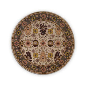 Hand tufted wool round Rug - Bedding Nest