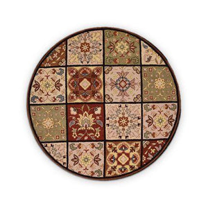 Hand tufted wool round  Rug