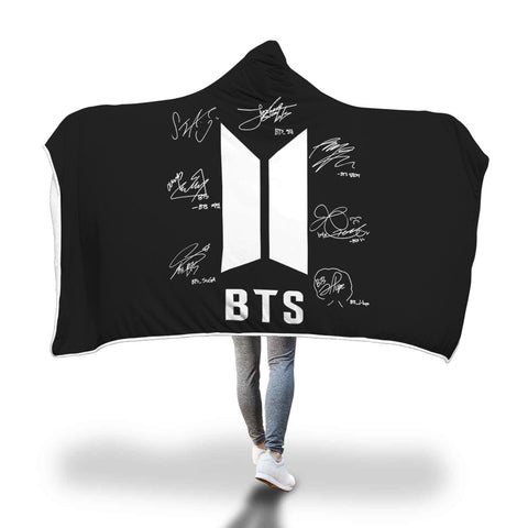 BTS Exclusive Signature Hooded Blanket
