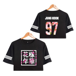 BTS 'Bloom' Crop Top Black The KPOP Dept. - KPOP AIR