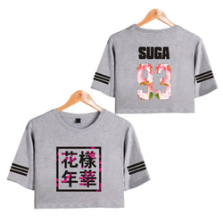 BTS 'Bloom' Crop Top Gray The KPOP Dept. - KPOP AIR