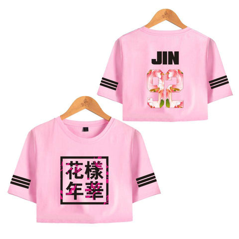 BTS 'Bloom' Crop Top Pink The KPOP Dept. - KPOP AIR