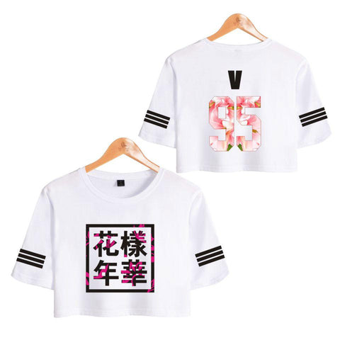 BTS 'Bloom' Crop Top White The KPOP Dept. - KPOP AIR