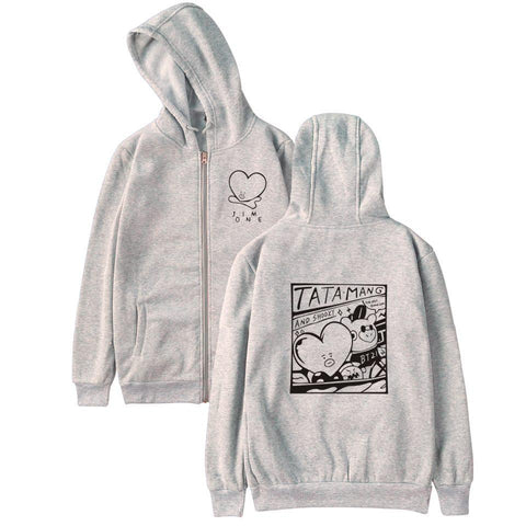 BTS 'BT21 TATA MANG SHOOKY' Hoodie The KPOP Dept. - KPOP AIR