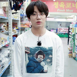 BTS 'RUN! V MEME' Long Sleeve T-Shirt The KPOP Dept. - KPOP AIR