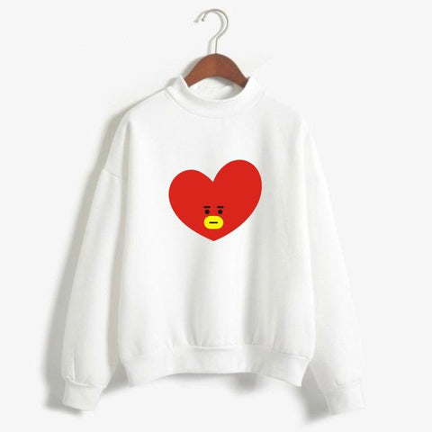 BTS 'BT21 Character' Sweater White The KPOP Dept. - KPOP AIR