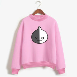 BTS 'BT21 Character' Sweater Pink The KPOP Dept. - KPOP AIR