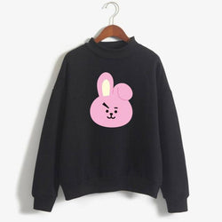 BTS 'BT21 Character' Sweater Black The KPOP Dept. - KPOP AIR