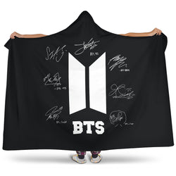 HOLIDAY BTS SIGNATURE HOODED BLANKET