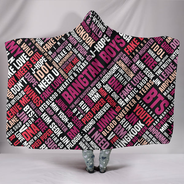 BTS Graffiti Collage Premium Hooded Blanket