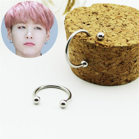 Suga 'Stud Fashion' Earrings thekpopdept - KPOP AIR