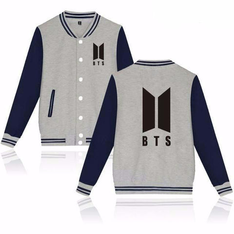 BTS 'New ARMY' Varsity Grey The KPOP Dept. - KPOP AIR
