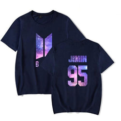 BTS 'GALAXY' T-Shirt Navy Blue The KPOP Dept. - KPOP AIR