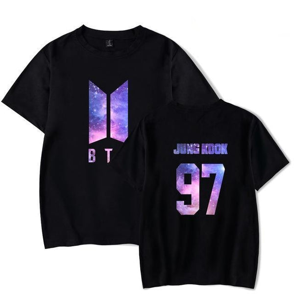 BTS 'GALAXY' T-Shirt Black The KPOP Dept. - KPOP AIR