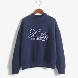 BTS 'Member Signature' Sweater Navy The KPOP Dept. - KPOP AIR