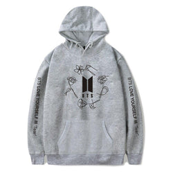 BTS 'Love Yourself: TEAR' Hoodie Grey The KPOP Dept. - KPOP AIR