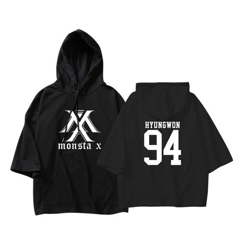"MONSTA X ""MX"" NUMBER SHORT SLEEVE HOODIE"