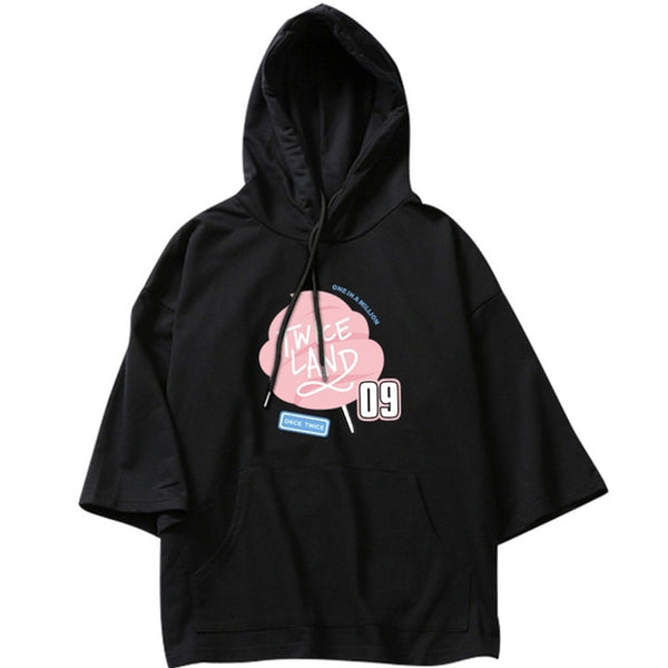 "TWICE ""ONE TWICE IN A MILLION"" SHORT SLEEVE HOODIE"