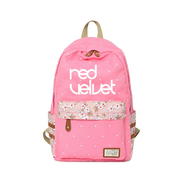 "RED VELVET ""FLOWER"" LOGO BACKPACK"