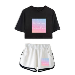 "BTS ""LOVE YOURSELF: ANSWER"" CROP TOP AND SHORT"