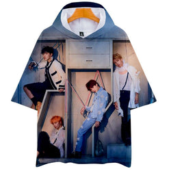 "BTS ""LOVE YOURSELF: ANSWER"" SHORT SLEEVE HOODIE FULL PRINT"
