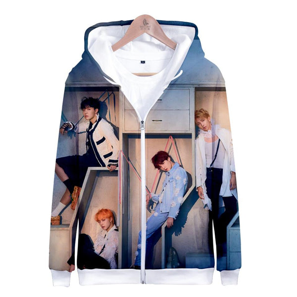 "BTS ""LOVE YOURSELF: ANSWER"" ZIPPER HOODIE FULL PRINT"
