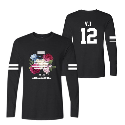"BIGBANG ""FLOWER ROAD"" LONG SLEEVE T-SHIRT BLACK"