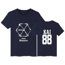 "EXO ""MONSTER"" T-SHIRT NAVY BLUE"