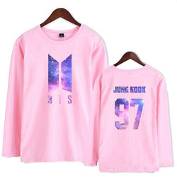 "BTS ""GALAXY"" LONG SLEEVE T-SHIRT PINK"