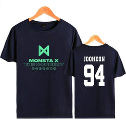 "MONSTA X ""THE CONNECT"" T-SHIRT NAVY BLUE"