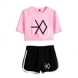 "EXO ""LOGO"" CROP TOP AND SHORT"