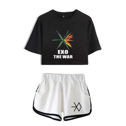 "EXO ""THE WAR"" CROP TOP AND SHORT"
