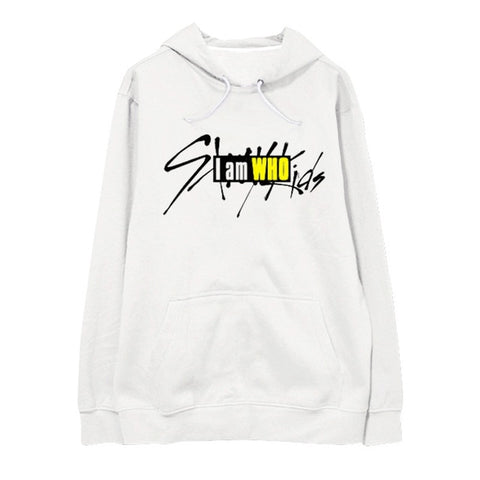 "STRAY KIDS ""I AM WHO"" NUMBER HOODIE WHITE"